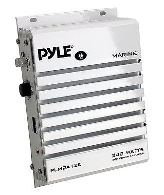 Pyle Hydra Marine Amplifier - Upgraded Elite Series 240 Watt
