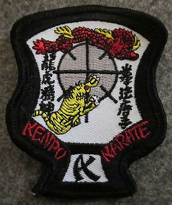"MID SIZE ED PARKER KENPO KARATE CREST PATCH 4.6"" X 3.5"" - NEW"