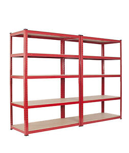2-Bay-Warehouse-Racking-5-Tier-Garage-Shelving-WIDE-DEEP-TS18-12-55