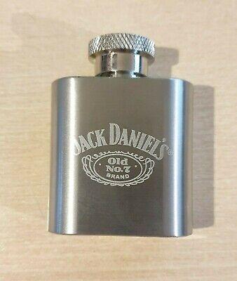Vintage - Jack Daniel's Miniature Stainless Steel 1 oz Hip Flask - Never Used