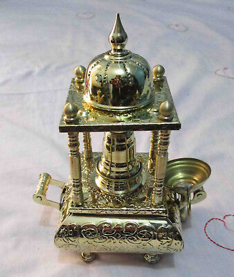 Turkish Coffee Maker Arabian Egyptian Table Top Spirits Burner Brass Engraved