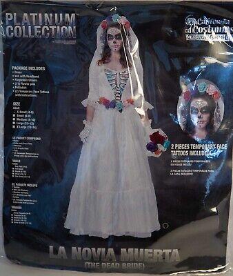 California Costumes Adult Women Halloween XS 4-6 THE DEAD BRIDE LA NOVIA - Halloween Costumes La