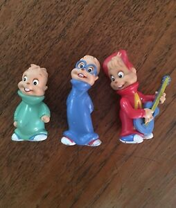 Vintage 1990 Alvin & The Chipmunks Vinyl Figurines