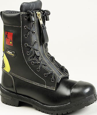 Tuffking 3103 Wildland Mens Firefighters Black Zip Up Safety Boots F2a En15090