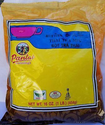 Pantai Thai Tea Leaves Mix (Pantai) Thai Iced Tea 1 lbs 16oz. 454g Bag
