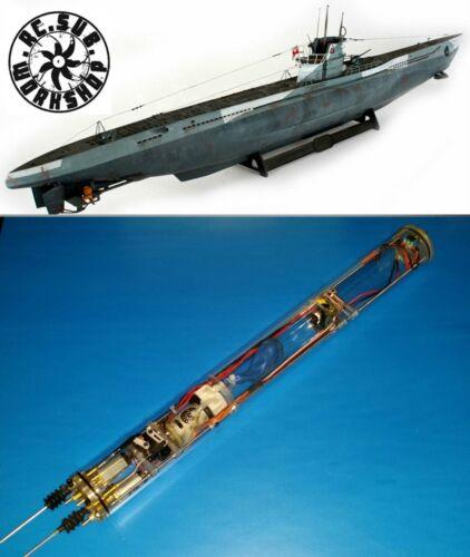RC Sub Revell 1/72 Uboat Submarine Use ( RTR WTC + propeller + shaft + rudder )