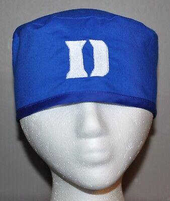 Duke University Blue Devils Embroidered Scrub Cap/Hat - One Size Fits Most Blue Scrub Cap