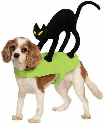 OMG There's a Black Cat On My Back Pet Costume Dog Cat Halloween  Small Medium ()