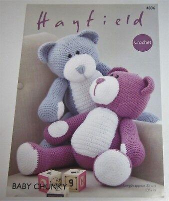 - Hayfield Baby Chunky BEAR Stuffed Toy Crochet Pattern #4836