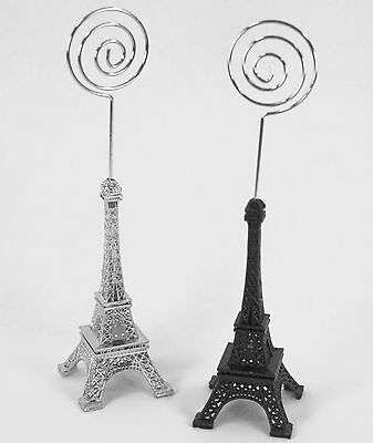 Eiffel Tower French Themed Place Card or Picture Holder Choose color   - French Table Decorations