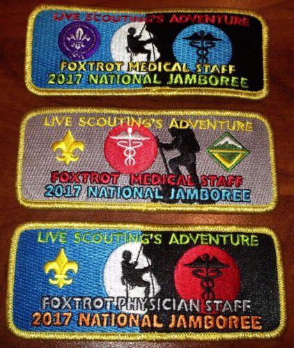 Foxtrot Medical Staff AWARD Gold Brd 3 pc Patch Set 2017 National Jamboree RARE