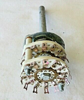 Ceramic Rotary Switch Double Deck Each 1 Pole 12 Position 38 Mount Long Shaft