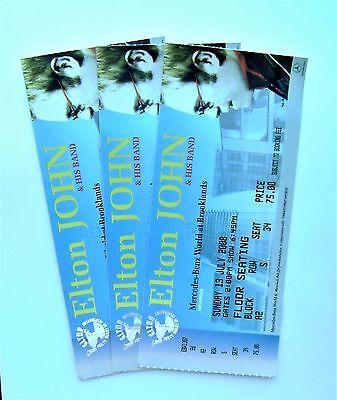 ELTON JOHN MEMORABILIA - Ticket Stub(s) Brooklands Weybridge Surrey 13/07/08