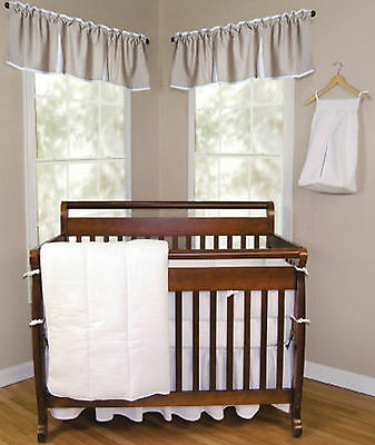 Trend Lab White Pique Baby Nursery Crib Bedding CHOOSE FROM 3 4 5 Piece -
