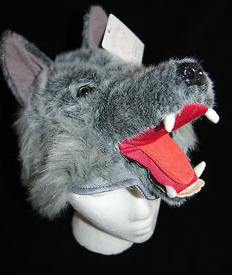 GRAY WOLF HAT Sled sleigh FAST US SHIP grey big bad wolf little red ridinghood