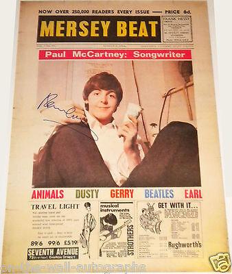 PAUL MCCARTNEY THE BEATLES HAND SIGNED AUTOGRAPHED RARE POSTER! WITH PROOF! PSA