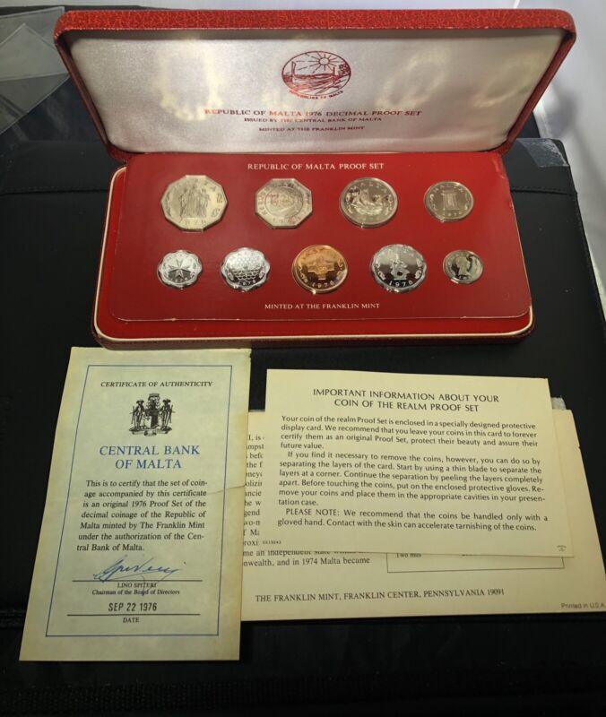 Malta 1976 9 Coin Proof Set
