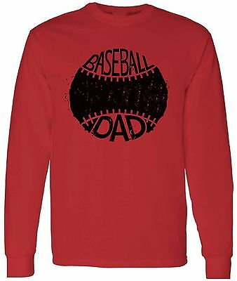 Baseball Dad  Long Sleeve Shirt  Baseball Gifts for Dad Birthday Gift -