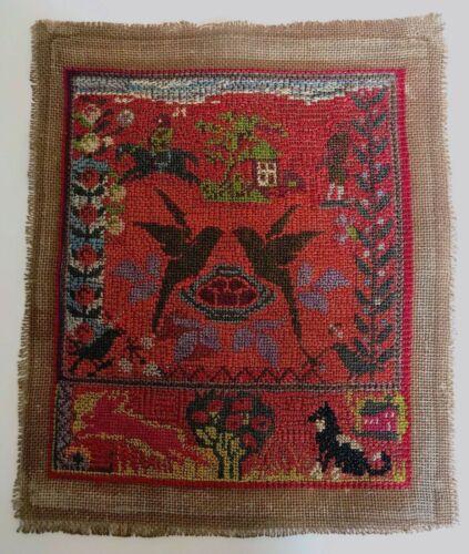 Antique Needlework Sampler ~ Cross Stitch Embroidery