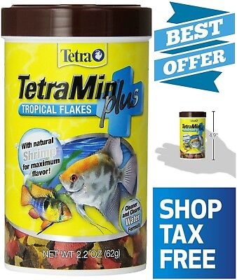 Nutritionally Balanced Fish Food TetraMin Plus Tropical Flakes Cleaner Water