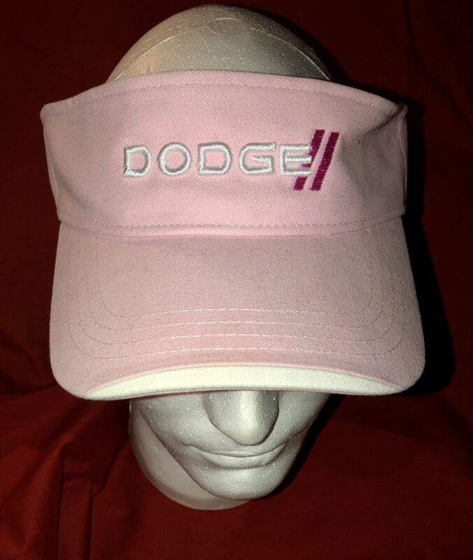 Dodge Ladies Pink Visor, Adjustable strap