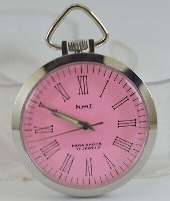 Vintage HMT 17Jewels Winding Pocket Watch For Unisex Use Working Good D-266-29