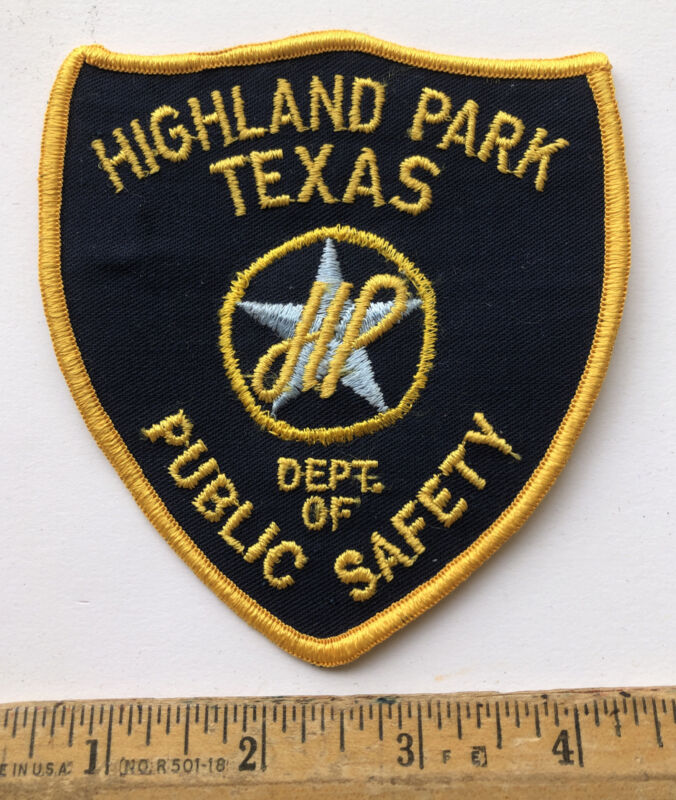 Vintage Highland Park Texas Public Safety Department Patch Police