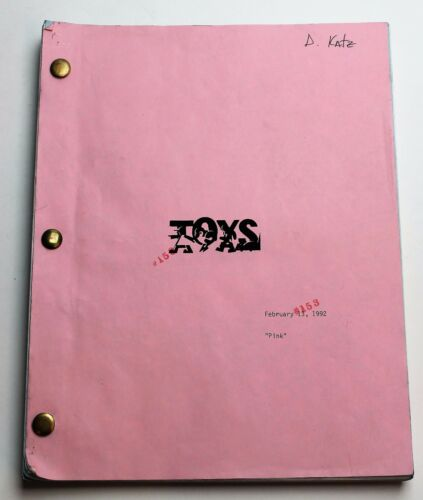 TOYS / 1992 Screenplay, Robin Williams military general begins making war toys