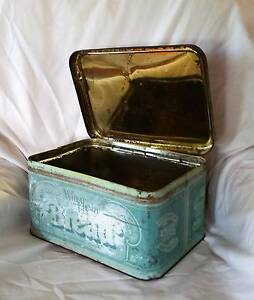Rare Vintage Bread Storage Tin Benarkin North Darling Downs Preview