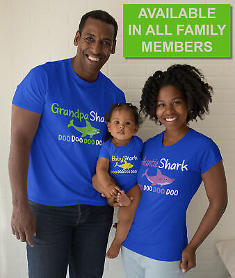 Funny Shirts For Women (Baby Shark Short Sleeved T-Shirts Adult Funny Tees Family Song For Mens)