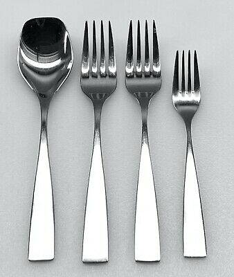 Mid Century Modern Style ~ Hisar ~ FAMIA 18/10 Forks & Spoon (4) Pcs ALL VGC