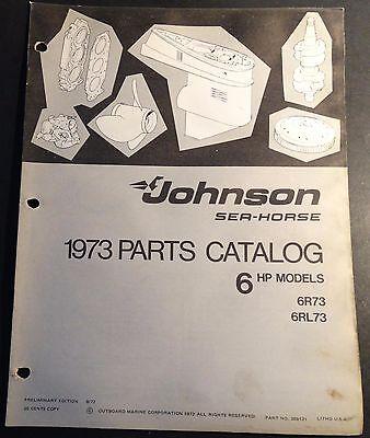 1973 JOHNSON SEA-HORSE OUTBOARD 6 HP PARTS MANUAL  P/N 386131  (408)