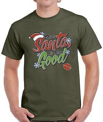 Men's Dear Santa I've Been Good Shirts Tops T-shirts for Men Christmas Outfit - Santa Outfits For Men