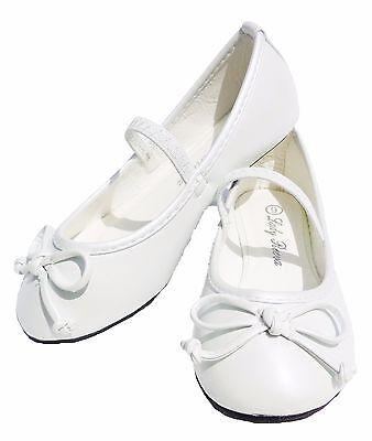 Girls Infant Toddler Kids Flats Shoes Slip On Bow Strap Ballet Dress Casual
