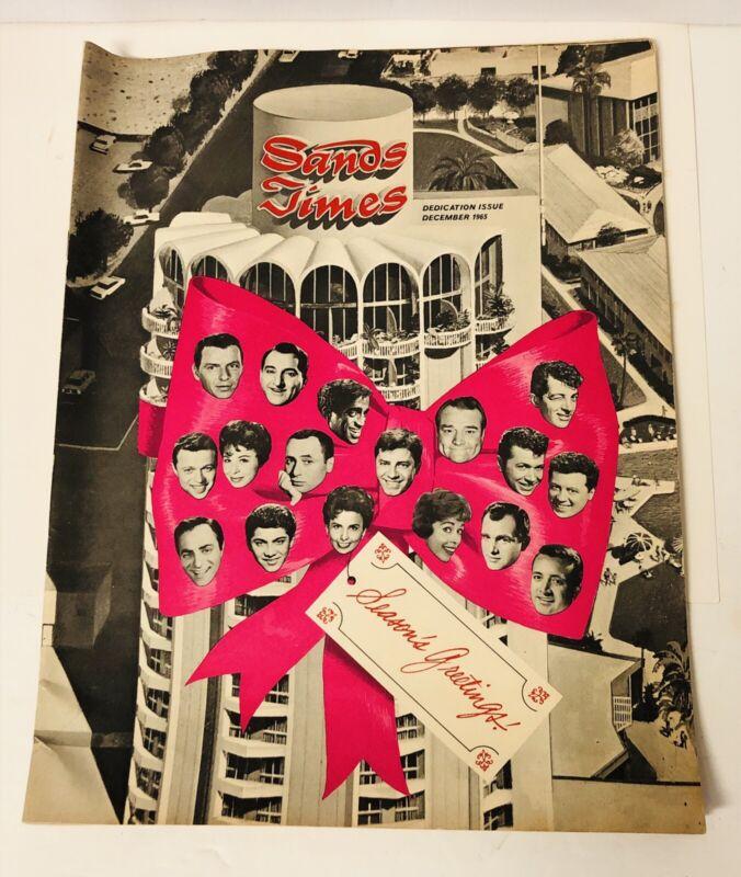 Sands Times Dedication Issue Dec 1965 Las Vegas The Sands Hotel Rat Pack Copa