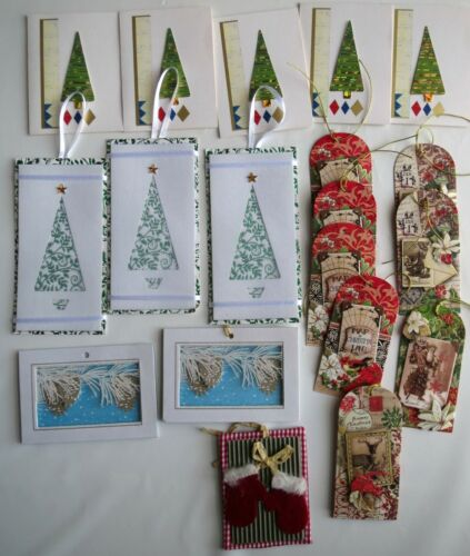Lot 21 Christmas Gift Stickers Gift Tag Holiday 3D Ribbon