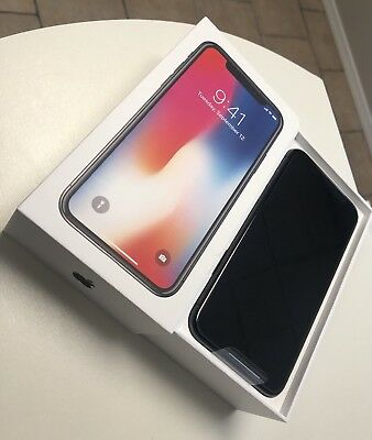 NEW! Apple iPhone X - 64GB - Space Gray (AT&T) (Straight Talk) A1901 OPEN BOX!