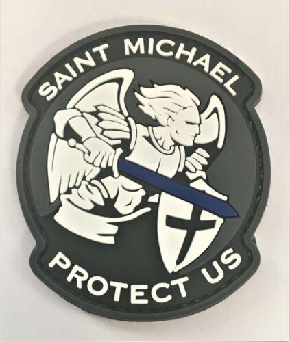 Saint Michael Protect Us PVC Patch Hook & Loop Sniper SEAL Recon SOI Ranger 386