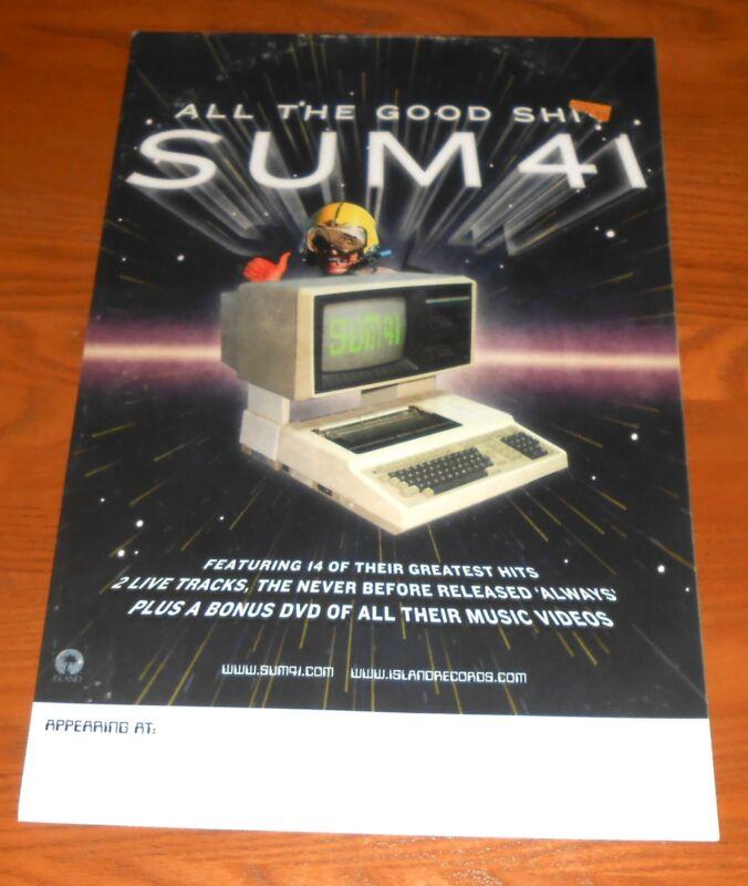 Sum 41 All the Good Shi* Poster 2-Sided Original Tour Promo 17x11