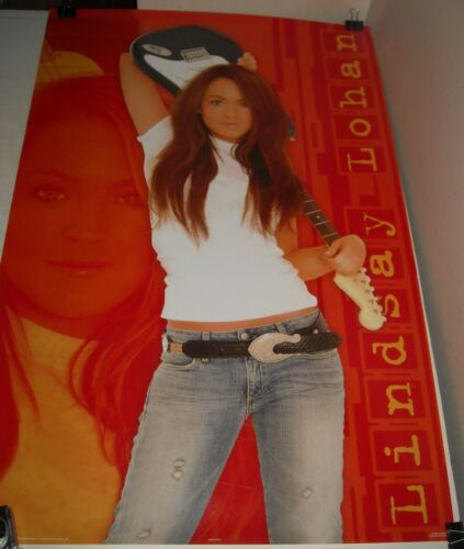 ROLLED 2004 Trends Posters # 8442 LINDSAY LOHAN ROCKS PINUP POSTER 22 x 34 inch