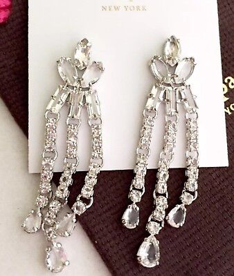 KATE SPADE Drama Chandelier Light Catching Crystal Earrings NWT $98