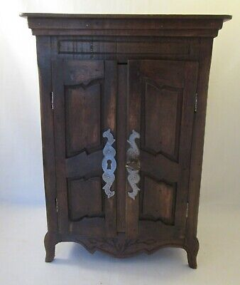 A Vintage Decorative Miniature Armoire / Cupboard - Dolls House - 15