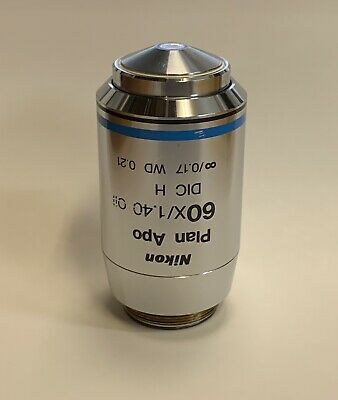 Nikon Plan Apo Apochromat 60x1.40 Oil Dic H Microscope Objective