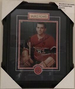 Maurice Richard Montreal Canadiens Photo Framed Autographed