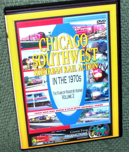 20130 TRAIN VIDEO DVD Chicago S.W. Suburban Rail Action 1970s