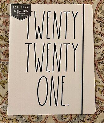 Rae Dunn 2021 Twenty Twenty One Planner Htf New White Aug 2020-dec 2021