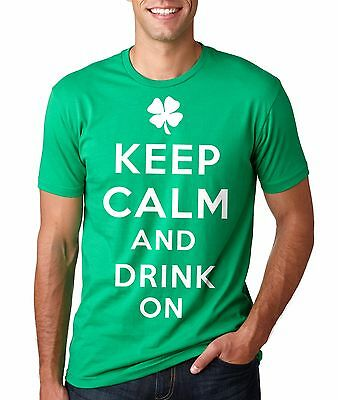 St. Patrick's Day T-shirt Keep Calm And Drink On Shamrock Leaf St. Pattys Day