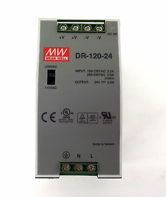 Mean Well Power Supply Dr-120-24 Dr12024 Mint Condition