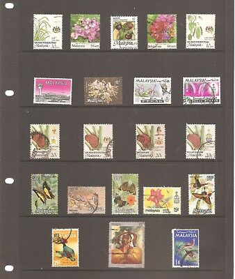 MALAYSIA  COLLECTION  21  TOP QUALITY FINE  USED   STAMPS     ( B )