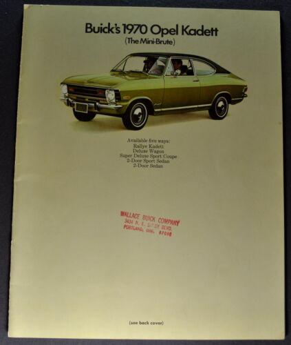 1970 Opel Kadett Catalog Sales Brochure Rallye Wagon Excellent Original 70